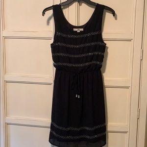Ya Los Angeles Black Beaded Summer Dress